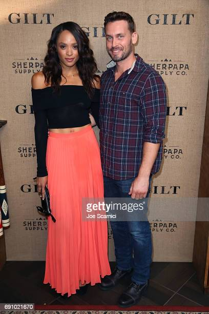 Sal Stowers and guest attend the Gilt Sherpapa Supply Co Launch Event at Catch LA on May 31 2017 in West Hollywood California