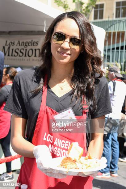 Sal Stowers attends Los Angeles Mission's Easter Celebration at Los Angeles Mission on April 14 2017 in Los Angeles California