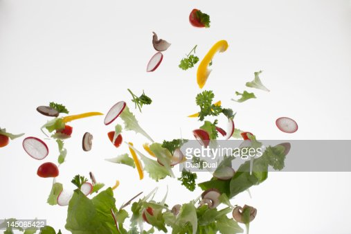 Salad against a white background