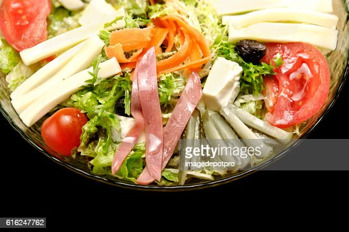 salad in glass bowl : Stock Photo