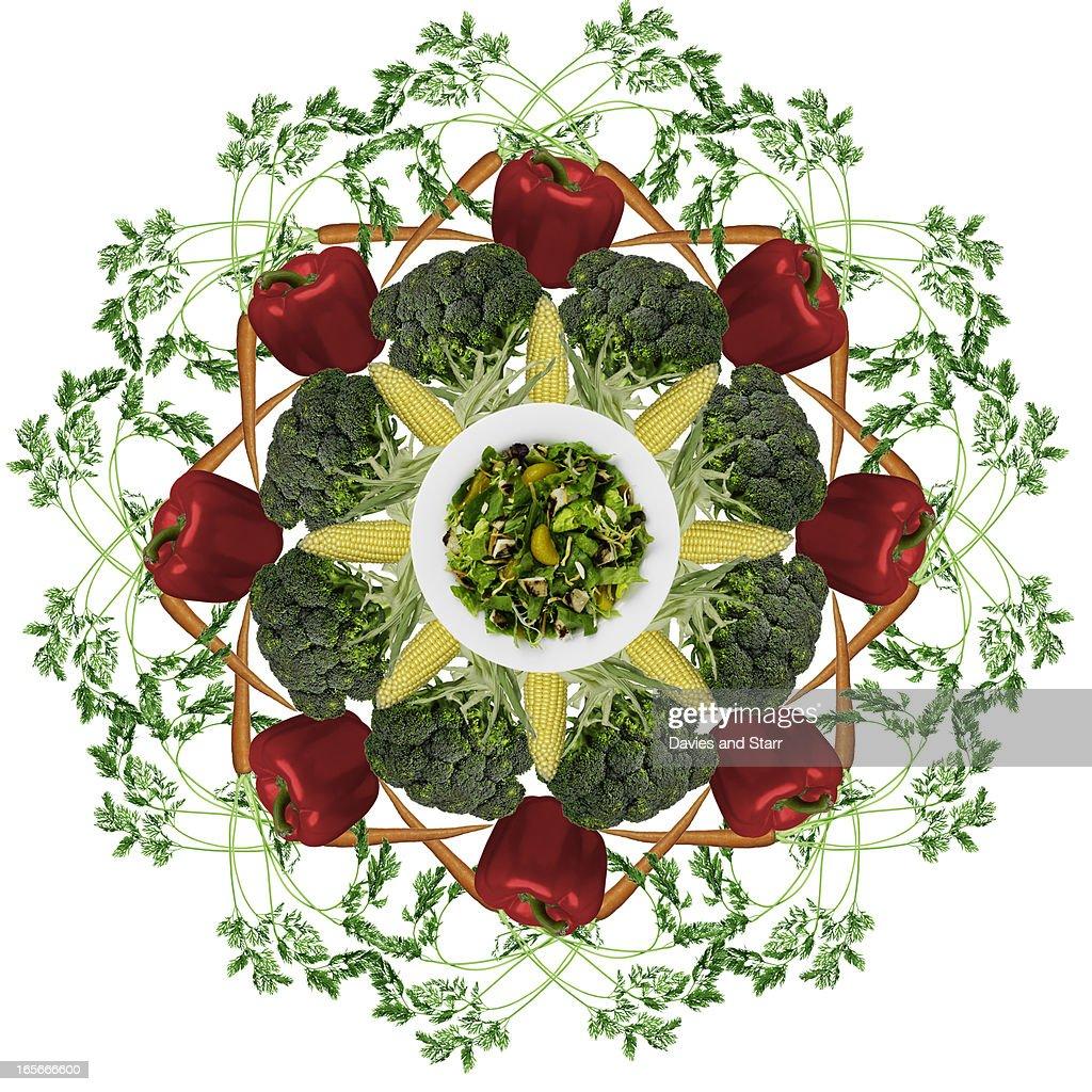 Salad Pattern : Stock Photo