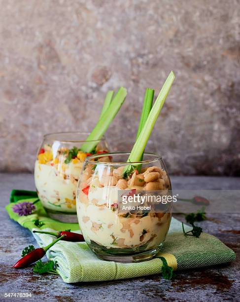 Salad with beans and tuna