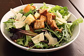 Salad with Croutons and Parmesan Cheese
