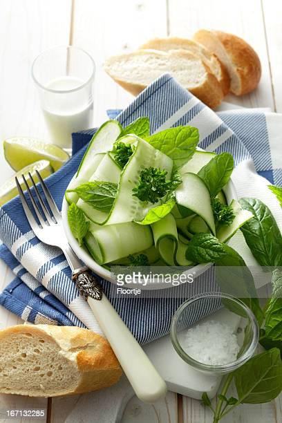 Salads: Cucumber Salad Still Life