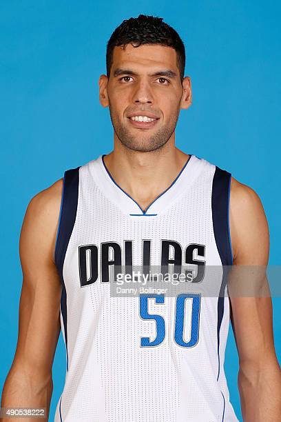Salah Mejri of the Dallas Mavericks poses for a head shot during Media Day on September 28 2015 at the American Airlines Center in Dallas Texas NOTE...
