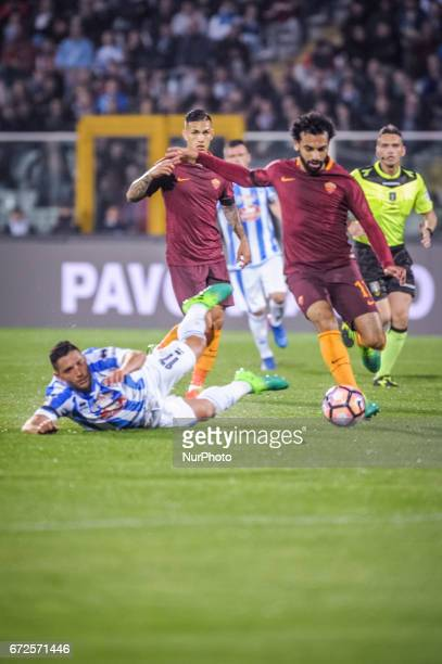 Salah Mhoamed during the Italian Serie A football match Pescara vs Roma on April 24 in Pescara Italy