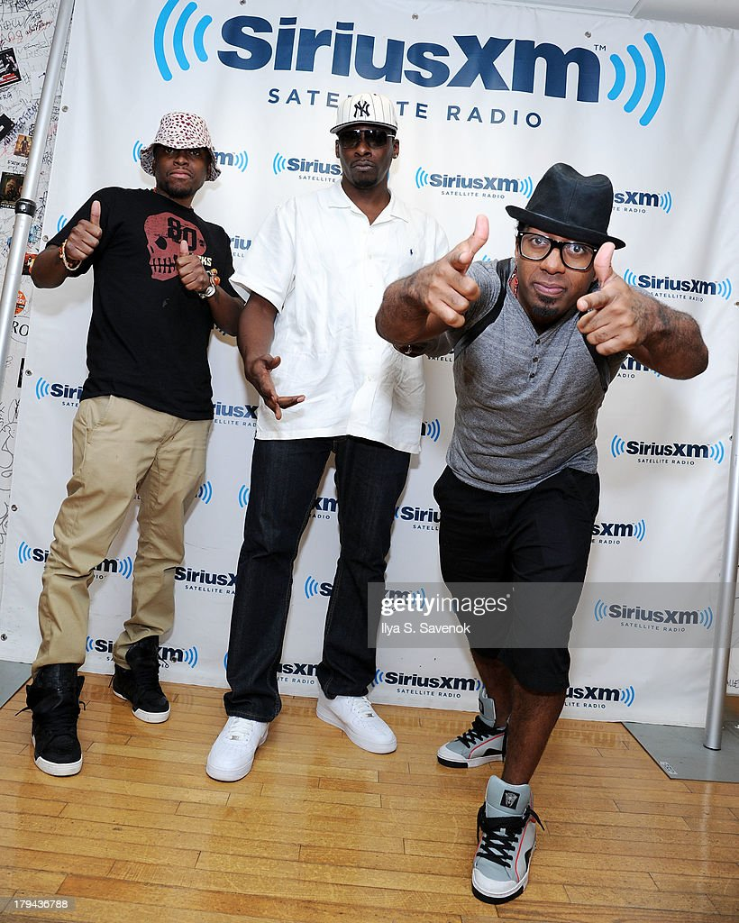 Salahadeen Wilds, <a gi-track='captionPersonalityLinkClicked' href=/galleries/search?phrase=Pete+Rock&family=editorial&specificpeople=641711 ng-click='$event.stopPropagation()'>Pete Rock</a> and Saladine Wallace visit SiriusXM Studios on September 3, 2013 in New York City.