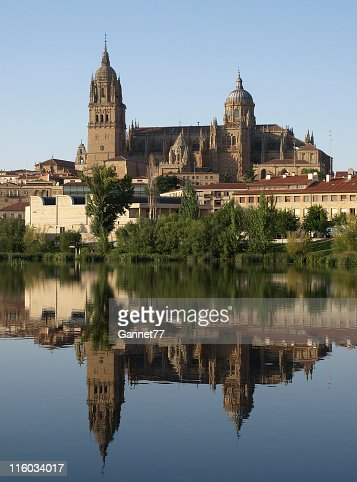 Salamanca Cathedral reflected in the Rio Tormes