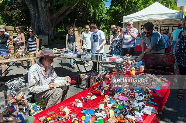 MARKET HOBART TASMANIA AUSTRALIA Salamanca Market held each Saturday in Hobart Tasmania