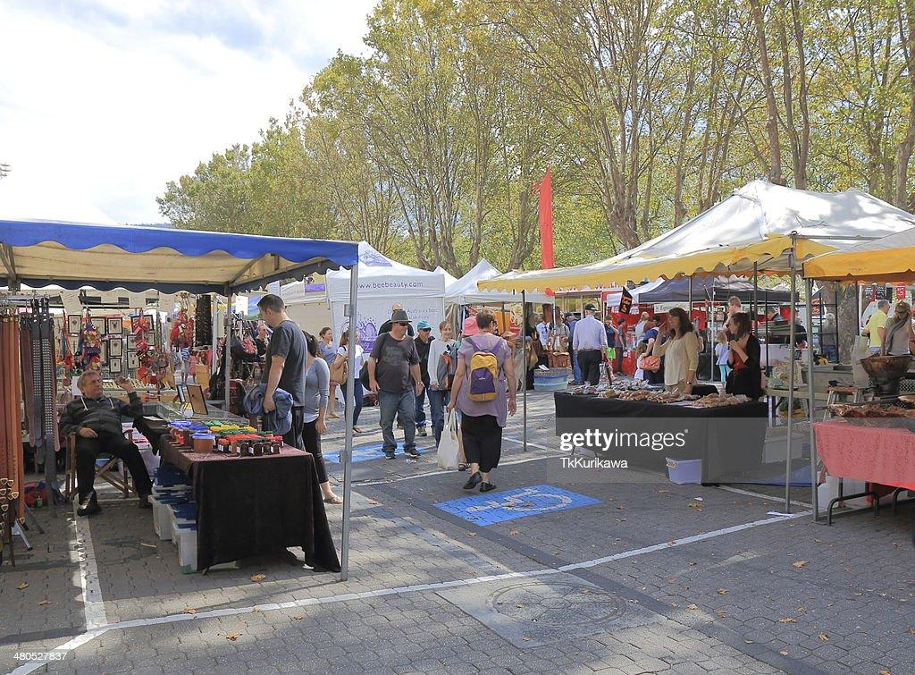 Salamanca Market Hobart Australia : Stock Photo