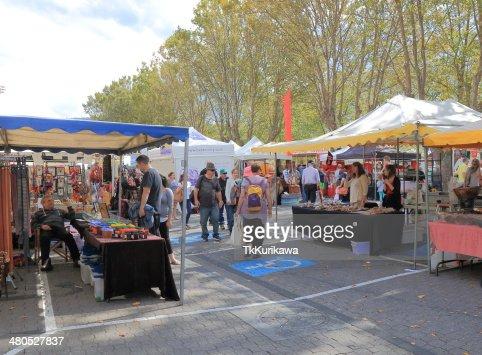Salamanca mercato Hobart Australia : Foto stock