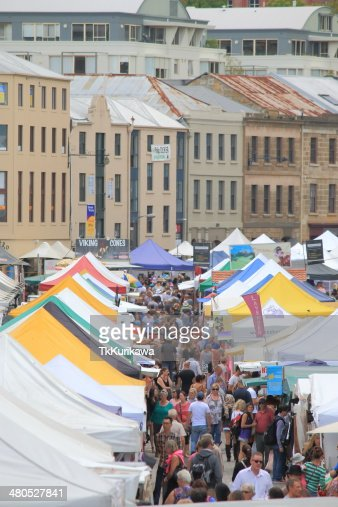 Salamanca Market Hobart Australia : Stock Photo