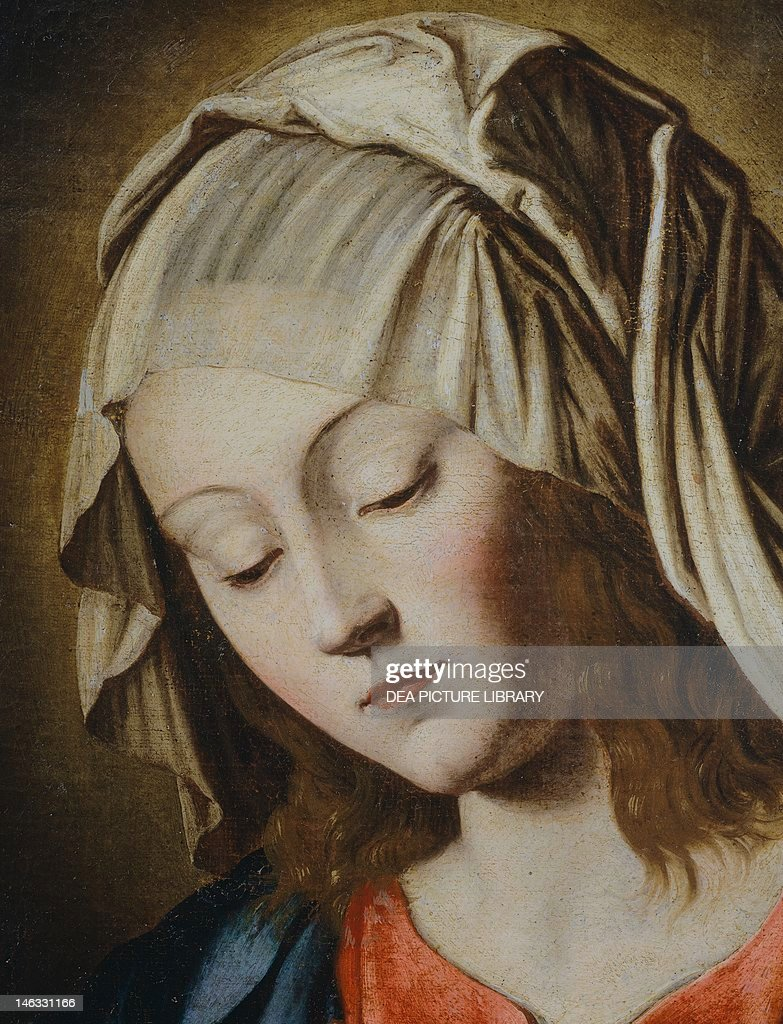 Salamanca, Museo Provincial De Bellas Artes (Art Museum) The Virgin's face, detail from the Virgin in Prayer, by Giovanni Battista Salvi da Sassoferrato (1609-1685).