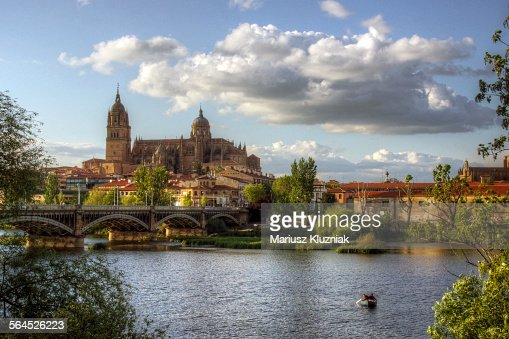 Salamanca New Cathedral and Tormes river