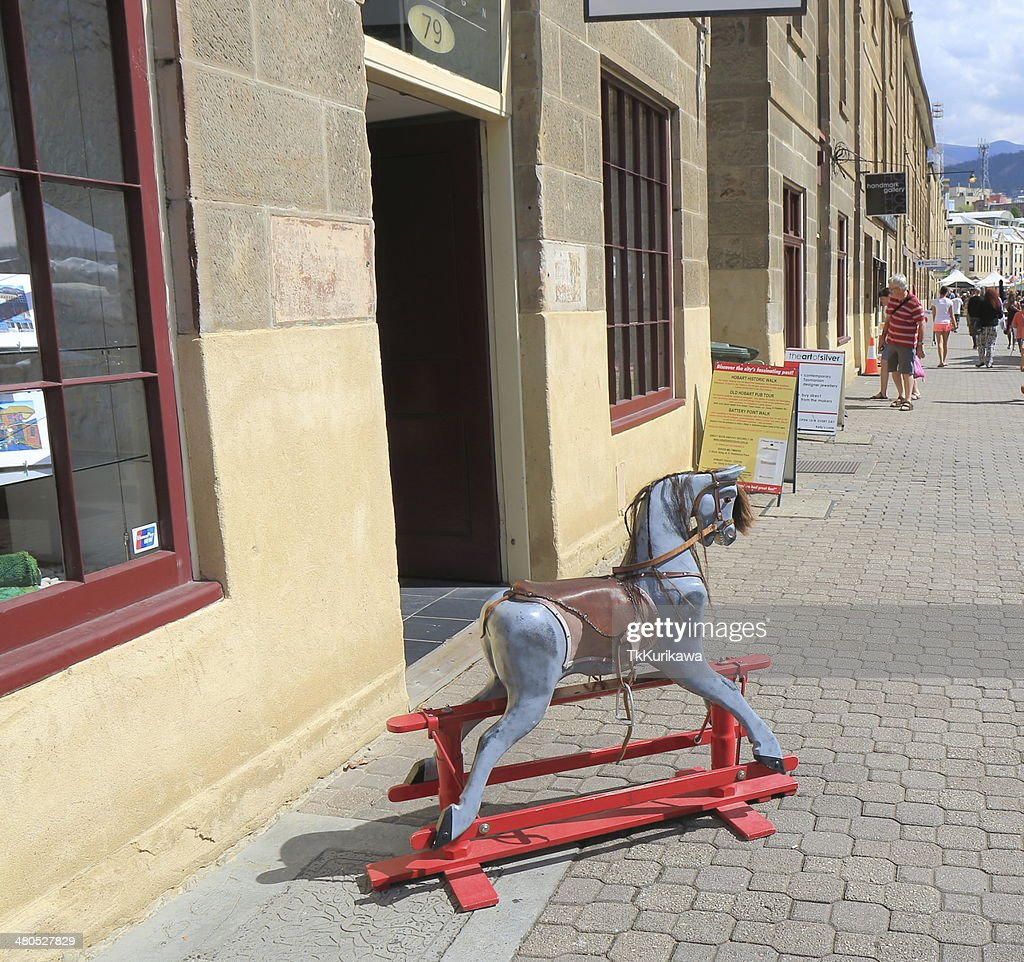 Salamanca Place Hobart Australia : Stock Photo