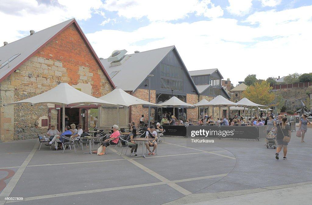 Salamanca Place Hobart Australia : Stock Photo
