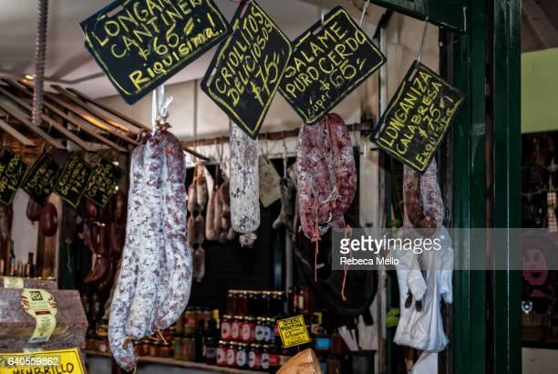 Salami on display
