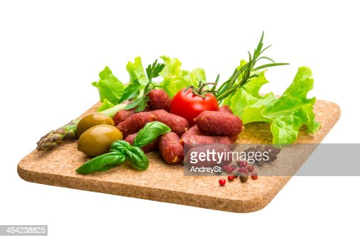 Salami sausages : Stock Photo