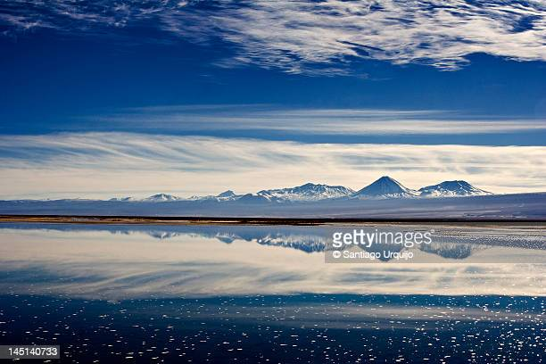 Salar de Atacama covered in water
