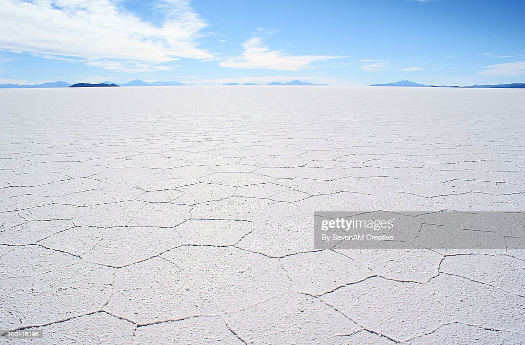Salar de Uyuni (salt flats), Bolivia : Stock Photo