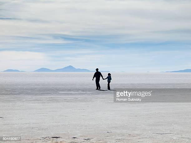 Salar de Uyuni with 2 persons
