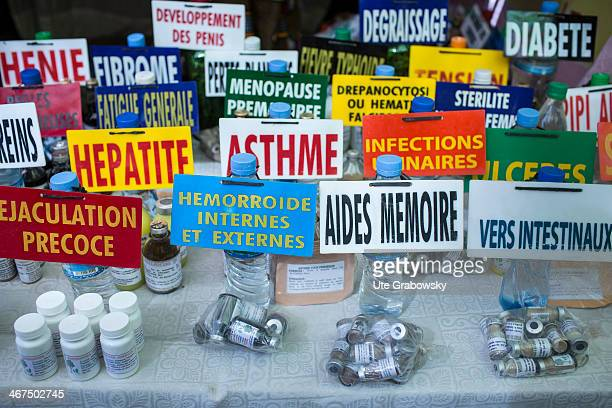 Sale of drugs and home remedies at a street market on December 05 in Niamey Niger Photo by Ute Grabowsky/Photothek via Getty Images