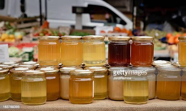 Vente de miel.