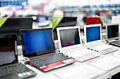 Sale of laptops in shop
