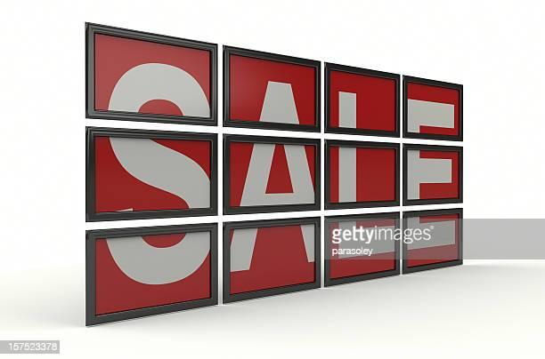 Verkauf auf Bildschirmen