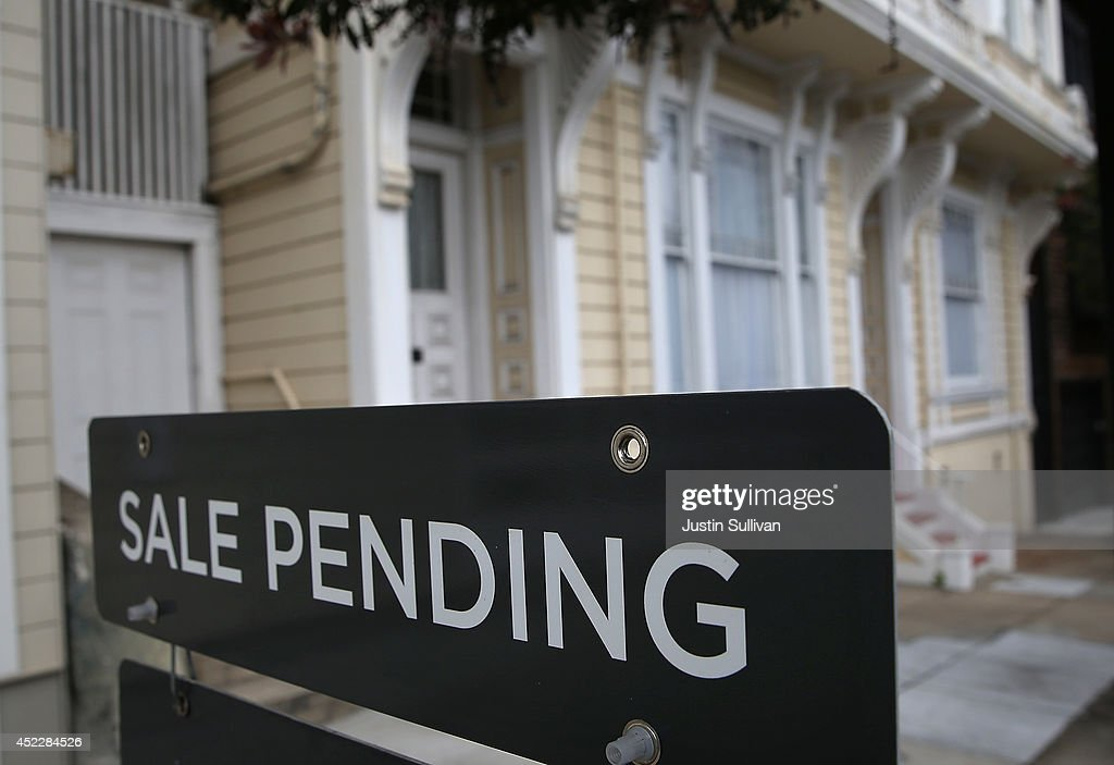 A sale pending sign is posted in front of a home for sale on July 17, 2014 in San Francisco, California. According to a report by DataQuick, the median price of new or existing single-family homes and condos reached $1 million.