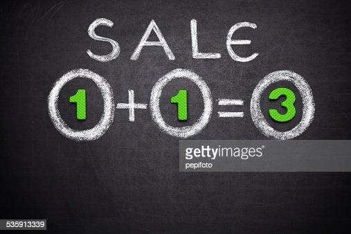 1 = 3 Venda : Foto de stock