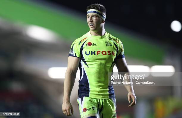 Sale Sharks Ben Curry during the Aviva Premiership match between Leicester Tigers and Sale Sharks at Welford Road on November 19 2017 in Leicester...