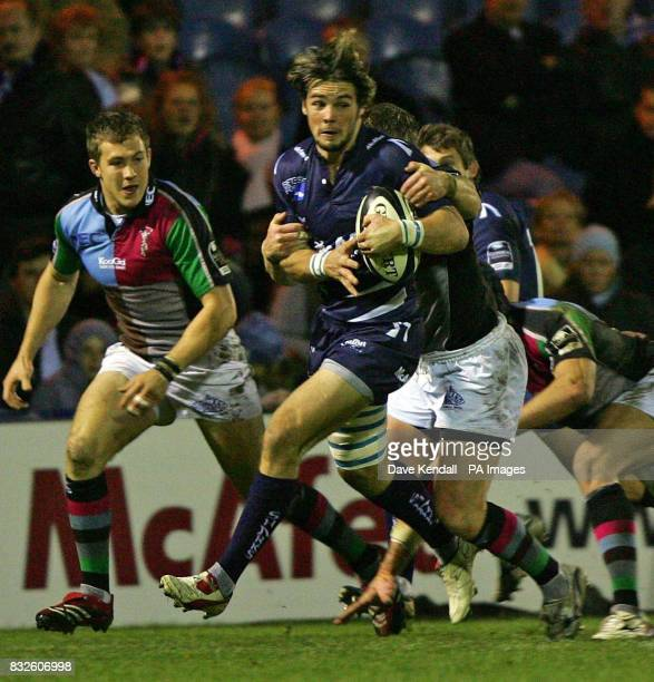 Sale Sharks' Ben Foden in action during the Guinness Premiership match against Harlequins at Edgeley Park Sale