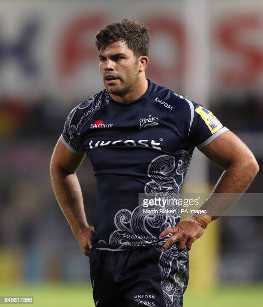 Sale Sharks' Jono Ross during the game against Newcastle Falcons during the Aviva Premiership match at the AJ Bell Stadium Salford