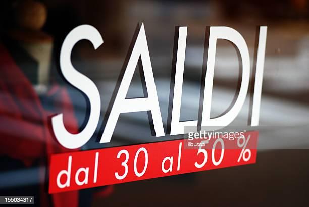 Sale written on Italian shop window