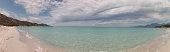 Saleccia beach panoramic, North Corsica