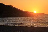 Saleccia beach sunset, Corsica