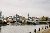 Salem Harbour on a Autumn Cloudy Day, Massachusetts