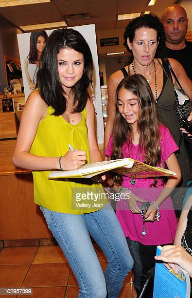 Salena Gomez attends the meet and greet event for the new upcoming film 'Ramona and Beezus' at Borders store on July 17 2010 in Miami Florida