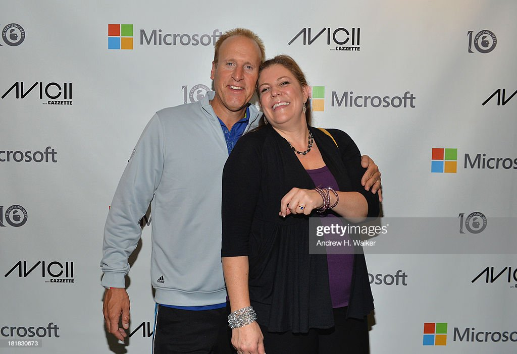 S. Sales and Marketing at Microsoft Advertising Keith Lorizio and VP & General Manager of Global Supply at InMobi Anne Frisbie attend Microsoft Live! at Advertising Week featuring music from Avicii with Cazzette at Roseland Ballroom on September 25, 2013 in New York City.