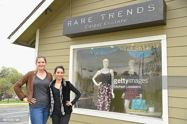 Sales and marketing director Caroline Gray and store community manager Alejandra Cook stand in front of their employer Rare Trends an East Austin...