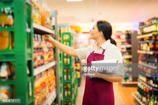 sales clerk at the supermarket
