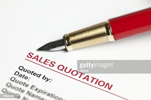 Sales Quotation Stock Photo  Getty Images