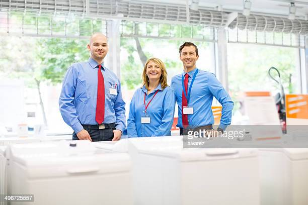 Sales team at a retail store