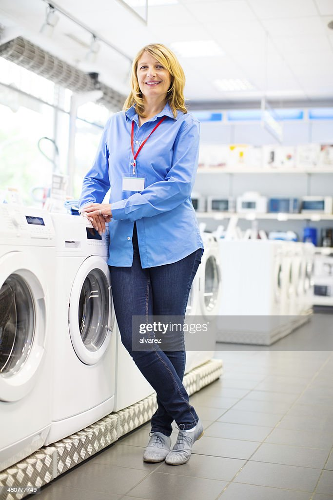 Sales woman at a retail store