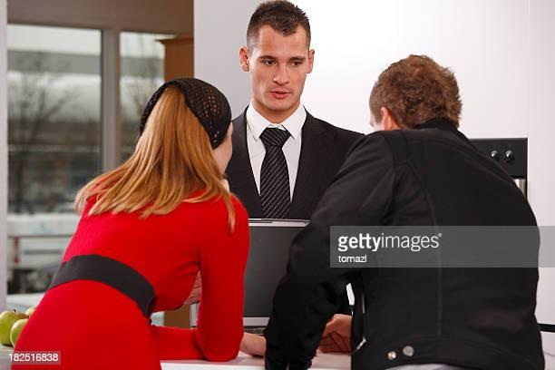 Salesman and a customers