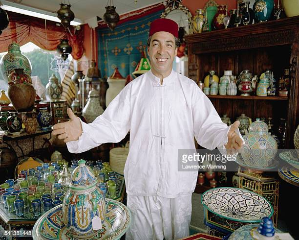 Salesman in Moroccan Crafts Store