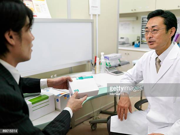 Salesman who promotes the sales of medical supply