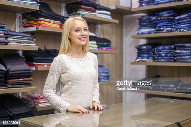 Saleswoman in store