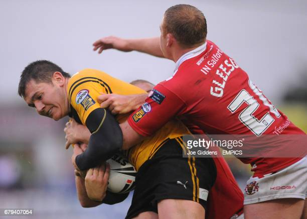 Salford City Reds' Sean Gleeson and Castleford Tigers' Brett Ferres